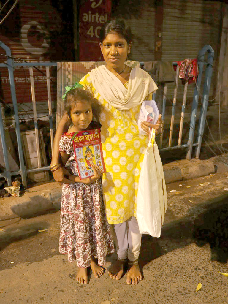 Kolkata Relief Kit and Family